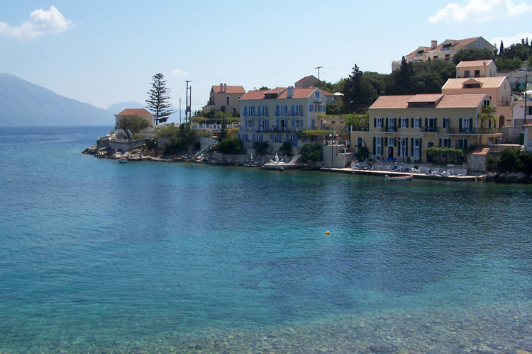 The village of Fiskardo in the north of Kefalonia island